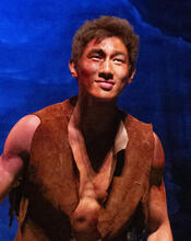 Rock as Caliban in The Tempest
