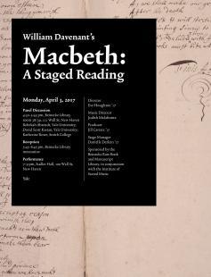 Poster of William Davenant's Macbeth (1674)