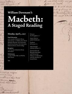 Poster of William Davenant's Macbeth (1674)