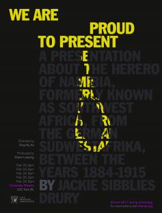 Poster of We Are Proud to Present a Presentation About the Herero of Namibia