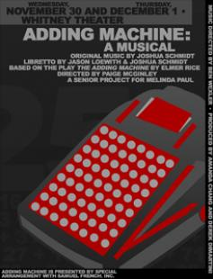 Poster of Adding Machine: A Musical