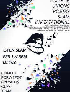 We're looking for members to compete in the College Unions Poetry Slam Invitational!