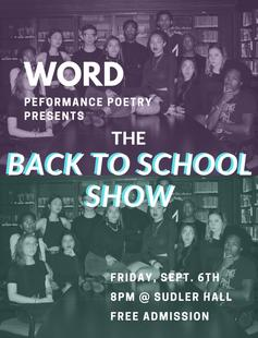 WORD: Performance Poetry at Yale Back to School Show