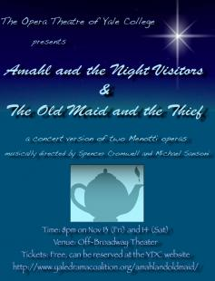 Poster of Amahl and the Night Visitors & The Old Maid and the Thief