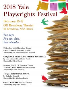 Poster of The Yale Playwrights Festival
