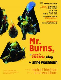 Poster of Mr. Burns, a post-electric play