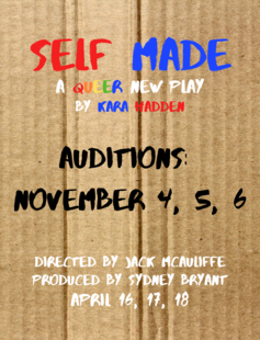 self made audition poster