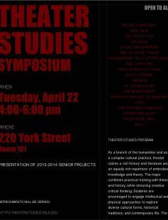 Poster of Theater Studies Symposium