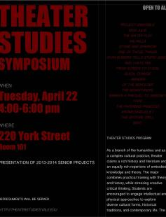 Poster of Theater Studies Symposium