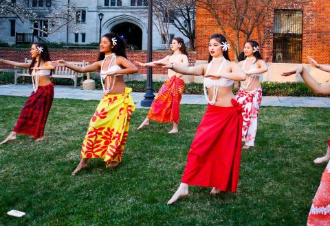 Photo of Shaka dancing at Yale University